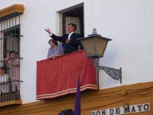 Typical Easter music in Malaga